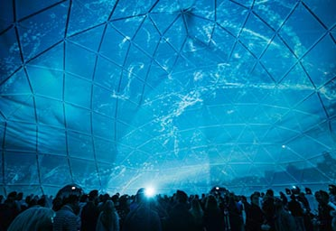 360 degree projection - Example dome 3