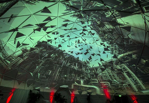 360 degree projection - Example dome 5