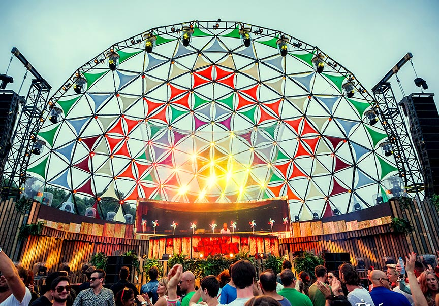 Dome as a stage