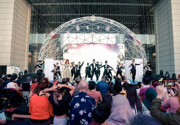 Dome als podium - Voorbeeld dome 4