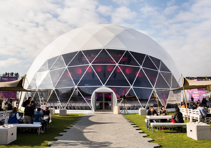Rent a Dome tent - Explore all options for putting together your unique Dome