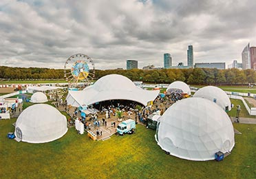 Rent a Dome tent - Size