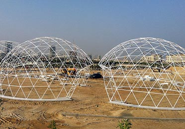 Rent a Dome tent - Structure
