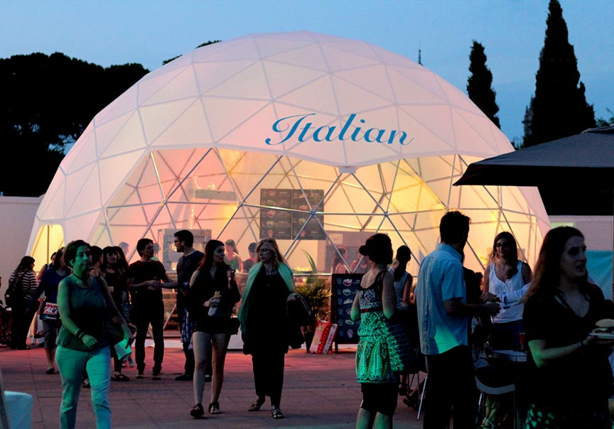 Dome tent formaten - 11m