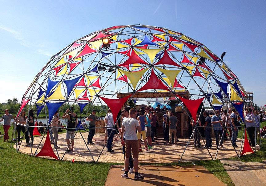 Dome tent formaten - 14m