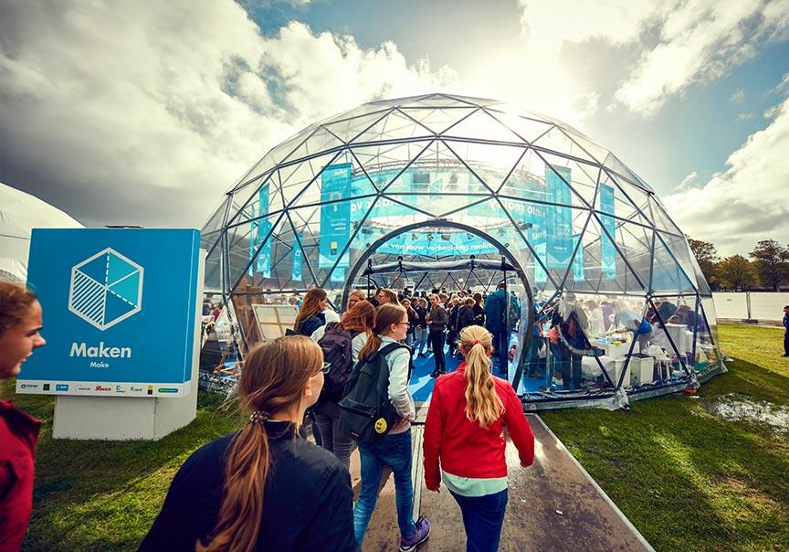 Dome tent formaten - 19m