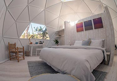 Dome tent options - Glamping dome