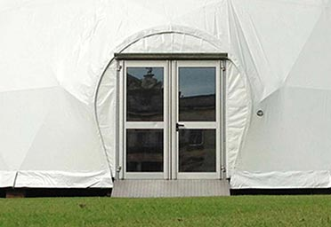 Dome tent options - Dome doors 3