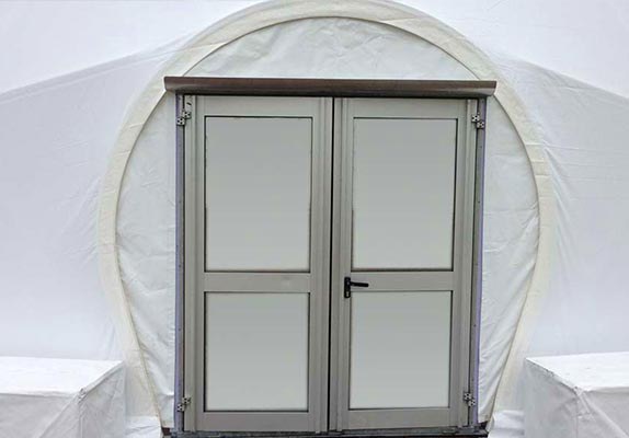 Dome tent options - Dome doors 4
