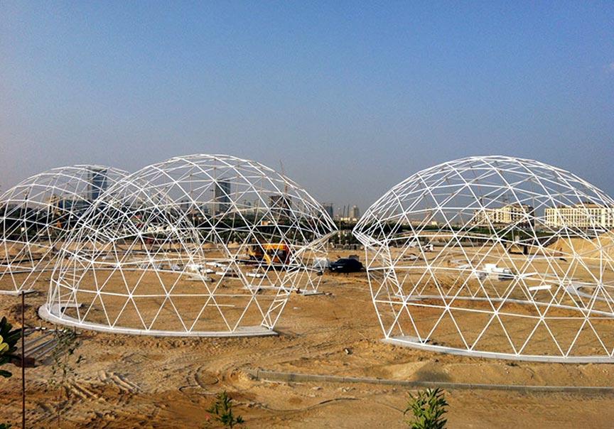 Opties dome tent - Maatwerk structuur